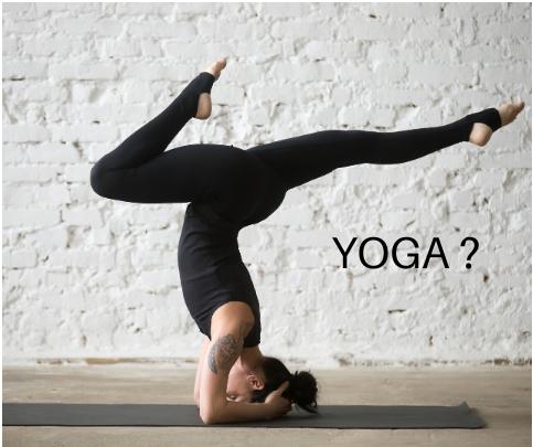 Is op je hoofd staan yoga